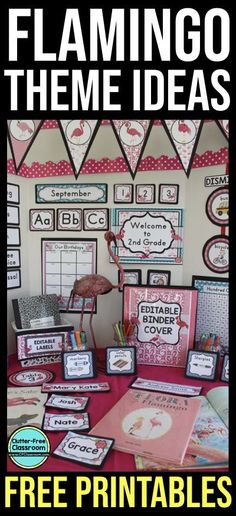 If FLAMINGO CLASSROOM THEME IDEAS are what you need you'll find inspiration here. This flamingos theme classroom decor page includes FREE PRINTABLES photos and lots of ideas for decorations bulletin boards and more. You can use these ideas with anima Elementary Classroom Themes, Classroom Decor Themes, Classroom Bulletin Boards, Future Classroom, School Classroom, Classroom Organization, Space Classroom, Classroom Ideas, Bird Theme