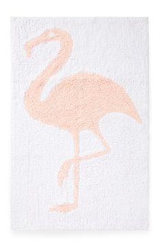 We just love this flamboyant flamingo bath mat from Primark Home!