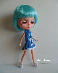 DRESS + JEWELRY BLYTHE Doll CLOTHES Fashion also fits clones Icy Basaak on ebay by dolls4emma........$12.00