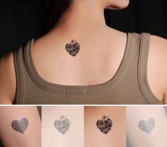 4 Pcs Heart Shaped Lollipop Non-toxic Temporary Tattoo Stickers Shape Tattoo, Real Tattoo, Makeup Tattoos, Some Ideas, Temporary Tattoo, Tattoos For Women, Really Cool Stuff, Heart Shapes, Tatting