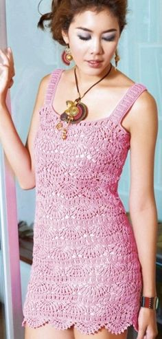 Crochet Dress - Free Crochet Diagram - (laduska) ..... mmmmm.... more like a top for me! with jeans or pants