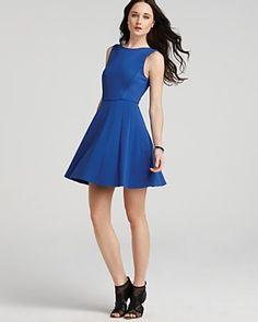 Tibi Dress - Ponte Pleated Skirt  PRICE: $398.00