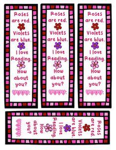 Free! Valentine's Day Bookmark