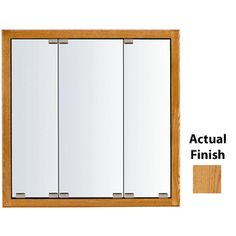 Kraftmaid Cottage 47-In X 28-In Square Surface/Recessed Mirrored Wood