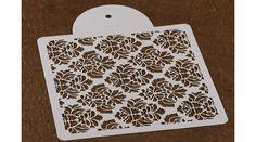 Barokk rózsa mintás torta stencil, Süss Velem Cukrász Webshop
