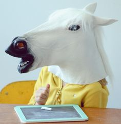 White Horse Head Mask