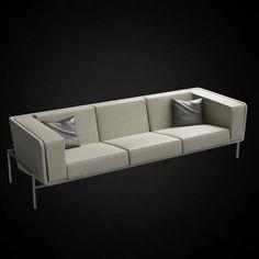 SA23 Saarinen Sofa   3D Furniture Model   Use PROMO CODE: Pin3d And Get 20