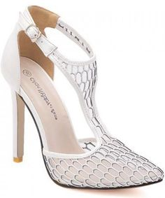 Gorgeous Mesh and Pointed Toe Design Sandals