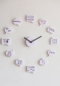 Cute clock! And you could use any symbols and words on the would be relevant to your life! Great idea.