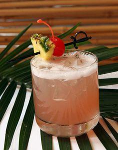 Kobe Punch  •1 oz. lemon-infused Cîroc Vodka  •1 oz. mango rum  •2 oz. pineapple juice  •2 oz. cranberry juice