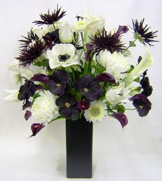 Black Halloween Flower Arrangements | Romantic occasion. Halloween. Iris floral designs in this. Be used ...