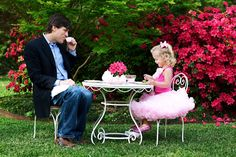 """A daddy that can enter into his child's world, to be a """"part"""" of it.. Even if it means to having a 'tea party' with his little girl. <3"""