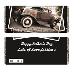 Classic Car Father's Day Chocolate Bar | Chocolate | Exclusively Personal