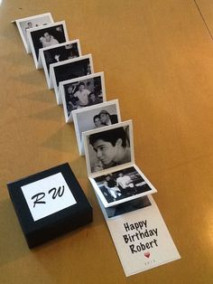 Cumple de vane – Presents for boyfriend diy Cute Birthday Gift, Birthday Gifts For Best Friend, Diy Birthday, Romantic Birthday, Presents For Boyfriend, Boyfriend Gifts, Bf Gifts, Picture Gifts, Diy Gift Box