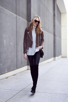 CLOSET STAPLE – A SUEDE MOTO JACKET