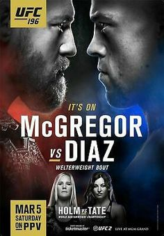 UFC MMA Poster Picture Print Sizes A5 to A0 **FREE DELIVERY** CONOR MCGREGOR