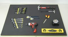 Auto repair shops are often in a perfect situation to take advantage of strategies. These shops typically have a lot of different types of inventor Foam Tool Organizer, Tool Organization, Garage Tools, Garage Ideas, Foam Sheets, Repair Shop, Car Shop, Poker Table, Tool Kit