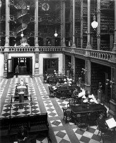 I want a library like this in my town, can someone be cool enough to make it?   The beautiful main hall. | 15 Gorgeous Photos Of The Old Cincinnati Library