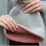 Simple double brim hat free crochet pattern