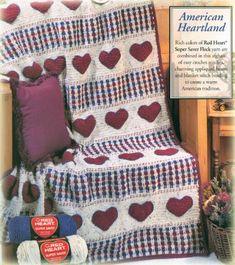 American Heartland Crochet Afghan Pattern