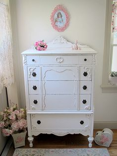 Gorgeous White Antique Chest of Drawers