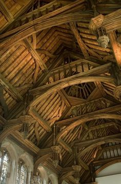 Text | Tumblr Art And Architecture, Architecture Details, Victorian Architecture, Eltham Palace, Medieval Houses, Rustic Home Design, Barn House Plans, Old Barns, Barndominium