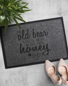 Personalised Old Bear And Honey Doormat Pink Happy Birthday, Happy Birthday Candles, Grandparents Day Gifts, Grandpa Gifts, Elizabeth Arden Red Door, Lucky To Have You, Heart Balloons, Grandma And Grandpa, Tears Of Joy