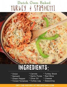 Dutch Oven | Dutch Oven Baked Turkey & Spaghetti