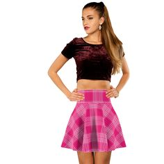 97317bb481 Pin by Lookastic on Skater Skirts | Pink skater skirt, Skirts ...