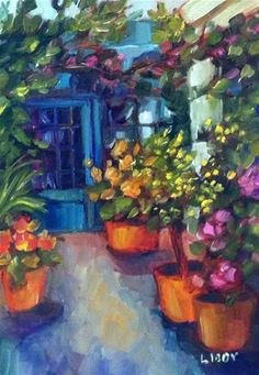 """Daily Paintworks - """"Potting Shed"""" - Original Fine Art for Sale - © Libby Anderson"""