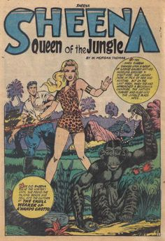 "sheena jungle | The Comic Book Catacombs: Sheena, Queen of the Jungle in ""The Skull ..."