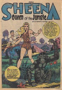 "sheena jungle | The Comic Book Catacombs: Sheena, Queen of the Jungle in ""The Skull ..."