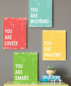 Love this 'You Are' Print Set on #zulily! #zulilyfinds