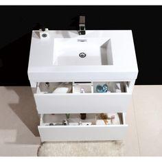 "Kube Bath Bliss 30"" Single Free Standing Modern Bathroom Vanity Set"