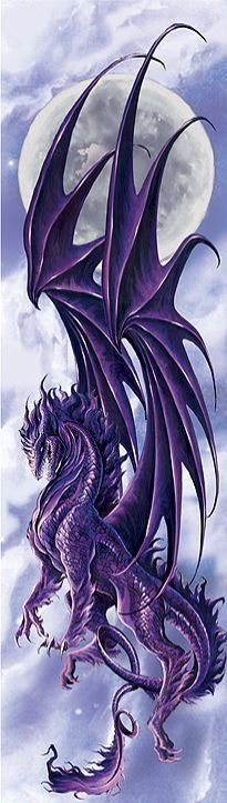 Dragon violet au clair de lune