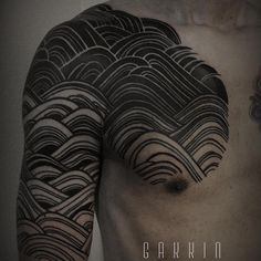 Gakkin tattoo forgoes a stencil and tailors each traditional design to the specific person.