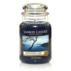 Yankee Candle Evening Air Large Jar Candle ** Check this awesome product by going to the link at the image. (This is an affiliate link) Bougie Yankee Candle, Yankee Candle Car, Yankee Candle Scents, Yankee Candles, Mason Jar Candles, Soy Candles, Scented Candles, Scented Wax, Light Em Up