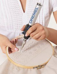 """Soldering iron """"broderie anglaise"""" - try with a polyester or other laser-cuttable fabric"""