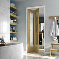 4 Panel White Woodgrain Internal Glazed Bi-fold Door, 5397007097634 ...