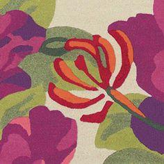 Sanderson Midsummer Rose Charcoal Rug | Patterned Rugs | Rugs | Living Room | Heal's