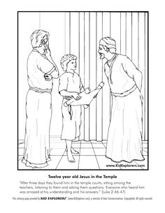 Jesus as a youth in St Josephs Carpenter shop Catholic Coloring