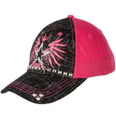 950ccd6be8f Shop Women s Cruel Girl Pink and Black Studded Baseball Hat Cruel Girl