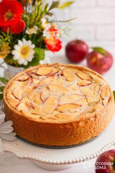 Цветаевский яблочный пирог Healthy Breakfast Recipes, Healthy Baking, Vegetarian Sweets, Baking Recipes, Dessert Recipes, Summer Pie, Good Food, Yummy Food, Cafe Food