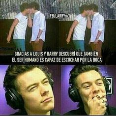 One Direction Fotos, One Direction Humor, One Direction Harry, Larry Stylinson, Louis Y Harry, 5sos, Harry Styles Memes, Larry Shippers, Treat People With Kindness