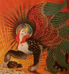 Salomé reapareció como una esfinge de seis alas, acariciando la cabeza cortada del Bautista con una de sus patas poderosas