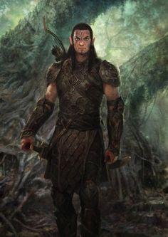 Dalish Elf - Concept art from Dragon Age: Origins