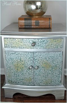 DIY Metallic Side Table - All Things Heart and Home