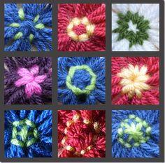 bloemetjes van wol