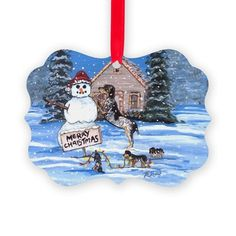 Bluetick Coonhound Christmas Family Ornament on CafePress.com
