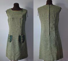 Vintage 1960s 60s sixties Green wool midi mod by APetiteFlower